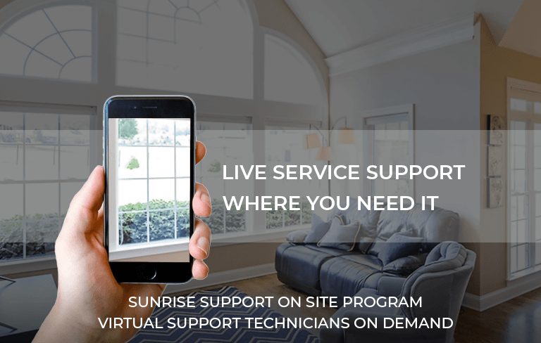 Live Service Support Where You Need It, Sunrise Support On Site Program, Virtual Support Technicians On Demand